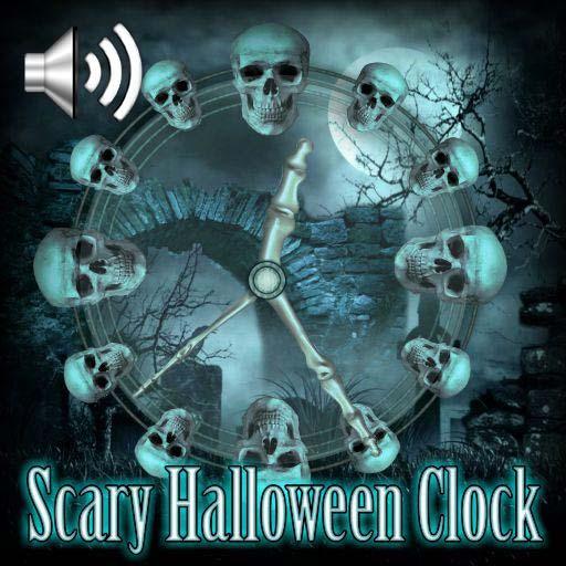 Scary Halloween Clock